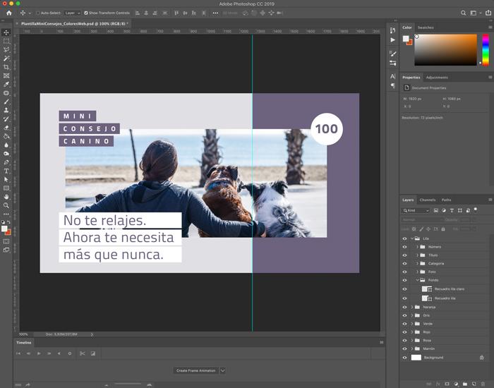 Interfaz aplicación Photoshop