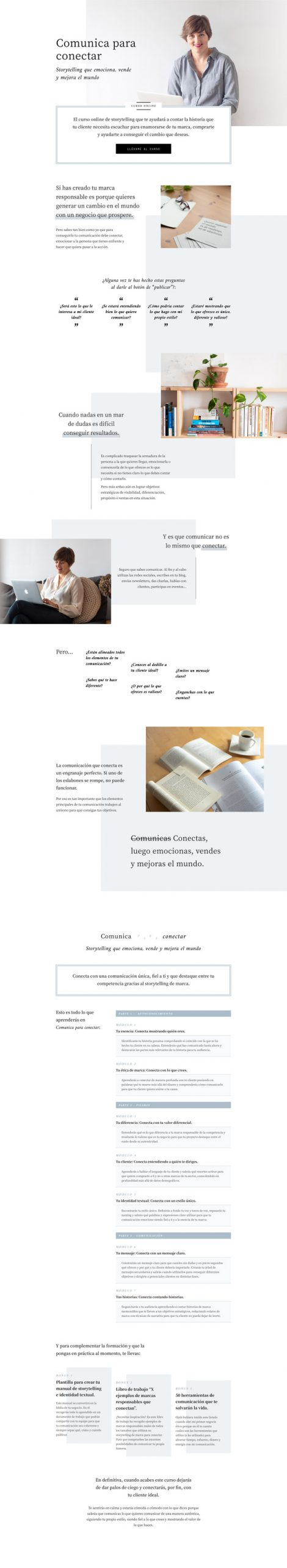 Landing page curso online Alba Sueiro Román